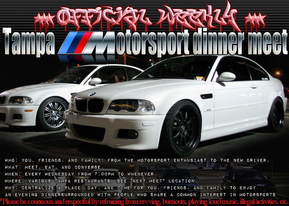 *** Official weekly Tampa ///Motorsport dinner meet ***-421187_10150620941457705_712042704_9315224_1431112382_n.jpg
