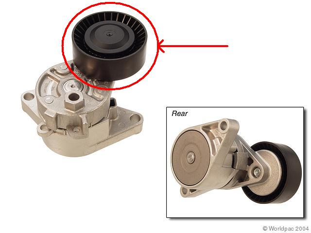 Pulley Tensioner Noise : What does the idle pulley tensioner look like see pics