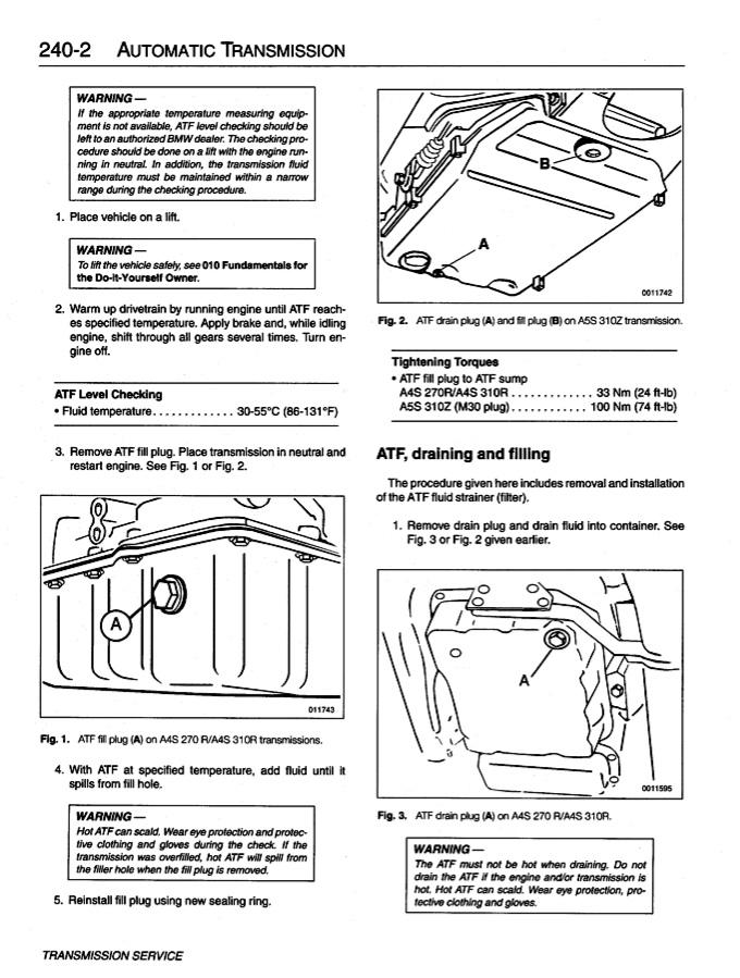 Easy Way To Check Transmission Fluid  BMW Forum  BimmerWerkzcom